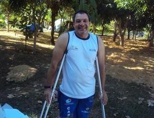 Jair Cabral deseja ser medalhista paralímpico (Foto: Marcos Martins/GLOBOESPORTE.COM)