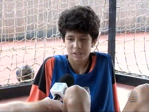 Gabriel Guedes, handebol, Corinthians, Prudente (Foto: Reprodução / TV Fronteira)