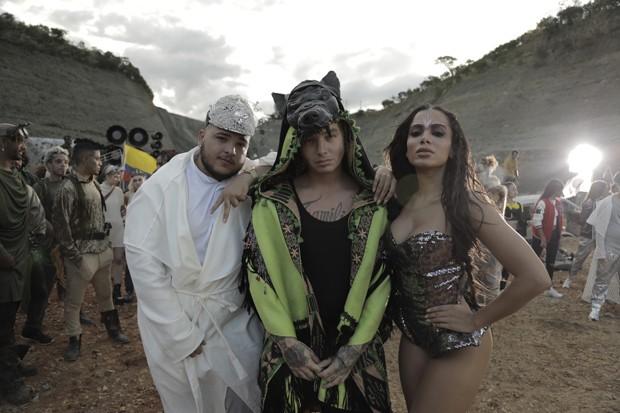 Jeon, DJ Balvin e Anitta em Machika (Foto: Divulgação)
