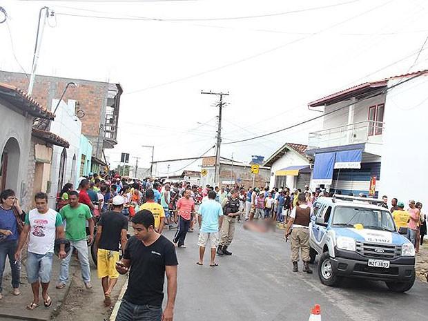 Suspeito se matou após o crime em Varzedo  (Foto: Marcello Dial / Voz da Bahia)