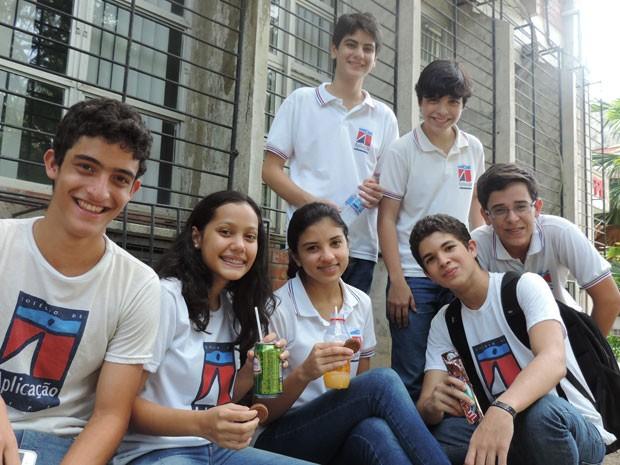 Alunos do Colégio de Aplicação não estão recebendo alimentos em 2014 (Foto: Vitor Tavares / G1)
