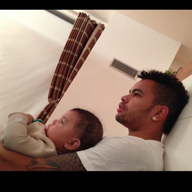 Dentinho e o filho (Foto: Instagram/Reprodução)