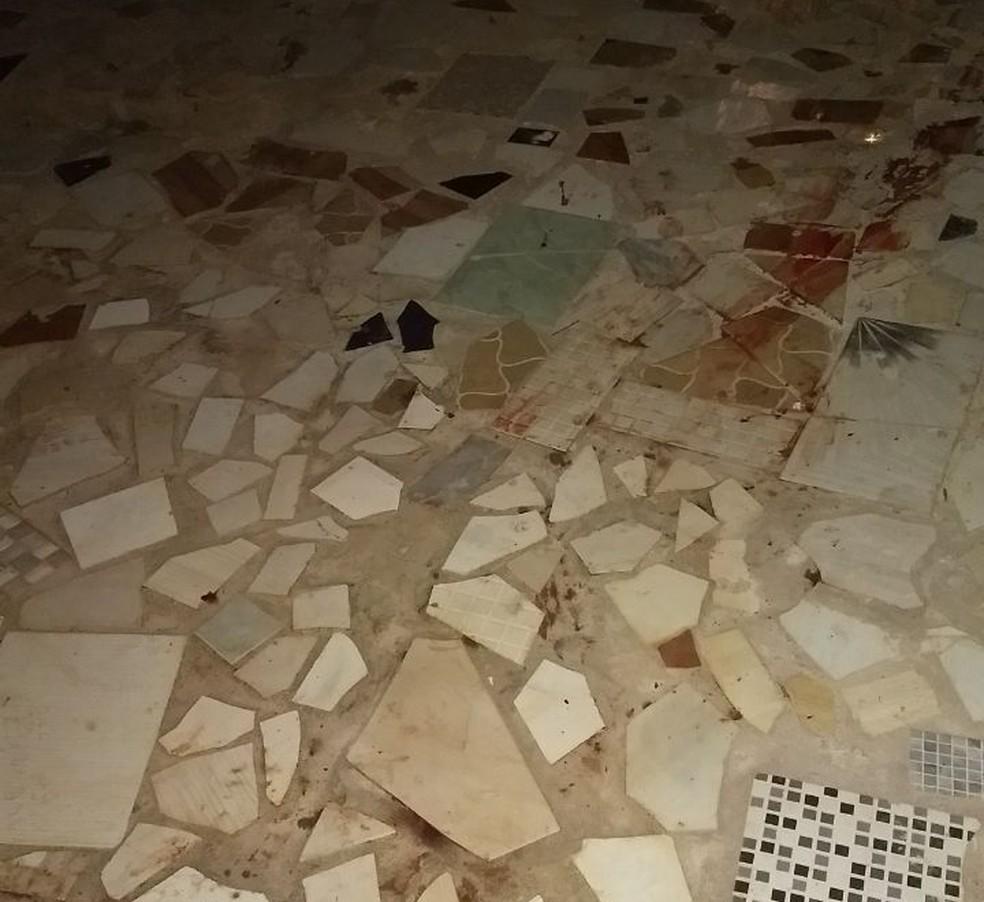 Suspeito estava limpando a cena do crime quando foi surpreendido em Pederneiras (Foto: Arquivo Pessoal)