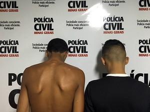 Adolescentes apreendidos em Ubá (Foto: Polícia Civil de Ubá/Divulgação)