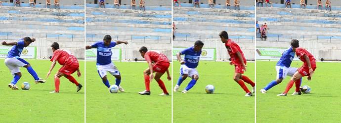 Atacante Waltinho Taubaté (Foto: Montagem com fotos de Bruno Castilho/Divulgação)