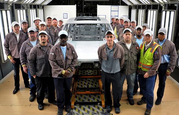 VW divulga foto de início da produção de novo SUV de 7 lugares nos EUA (Foto: Volkswagen)