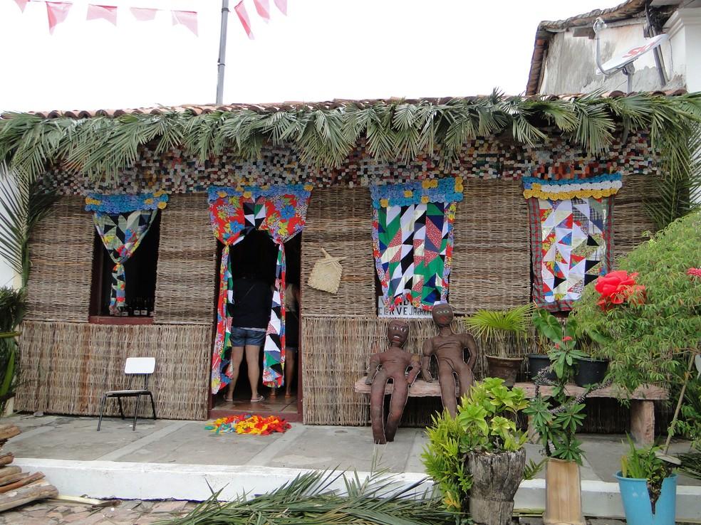 Cidade ornamentada para receber festejos juninos na região da Chapada Diamantina (Foto: Divulgação/Prefeitura de Mucugê)