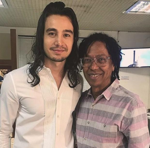Tiago Iorc e Djavan (Foto: Reprodução/Instagram)