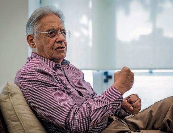 O presidente Fernando Henrique Cardoso (Foto:  Eduardo Anizelli/Folhapress)