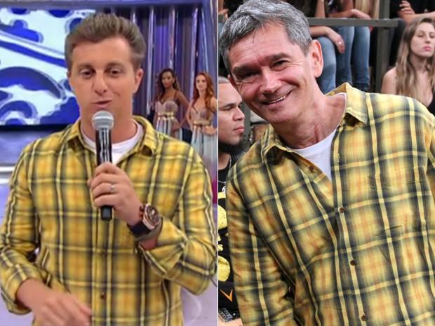 Luciano Huck e Serginho Groisman, no dia 8 de Dezembro de 2012 (Foto: Reprodução/Globo)