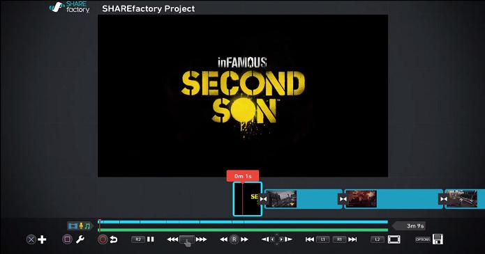 PlayStation 4 recebeu hoje o editor de vídeo SHAREfactory. (Foto: Reprodução/ YouTube)