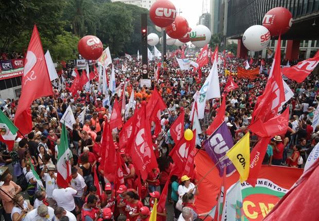 A expectativa dos organizadores é de que o ato reúna 150 mil pessoas até o início da noite (Foto: Paulo Pinto / AGPT/ Fotos Públicas)
