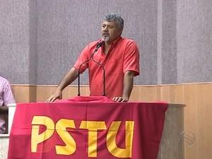 Pré-candidato do PSTU (Foto: Reprodução/TV Sergipe)