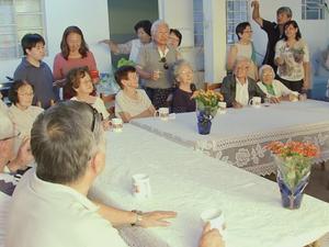 Irmã mais velha dos dez irmãos tem 97 anos (Foto: Reprodução/TV TEM)