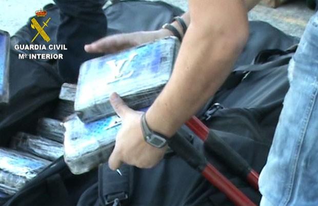 Cocaína foi apreendida no Porto de Algeciras (Cádiz) (Foto: Guardia Civil/Divulgação)