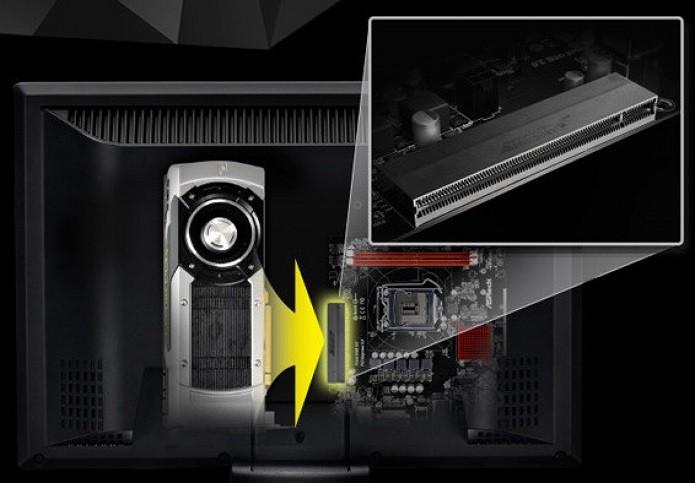 Posicionamento do slot PCI Express x16 na placa da ASRock (Foto: Divulgação/ASRock)