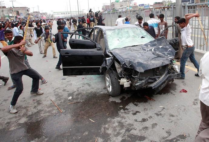 confusão no Paquistão Protesto (Foto: Reuters)