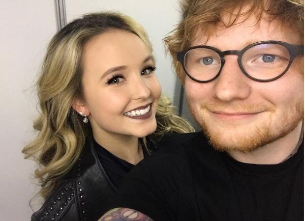 Larissa Manoela e Ed Sheeran (Foto: Reprodução/Instagram)