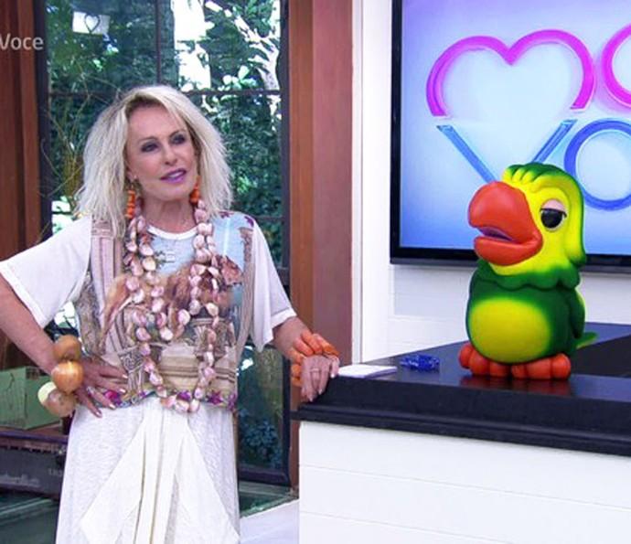 Ana Maria Braga usou colar de alho em protesto com a alta do produto (Foto: TV Globo)