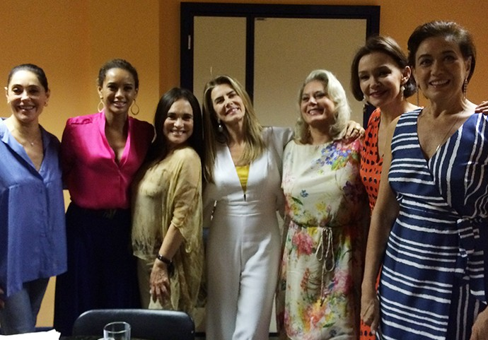 Christiane Torloni, Taís Araújo, Regina Duarte, Maitê Proença, Vera Fischer, Julia Lemmertz e Lília Cabral (Foto: Guilherme Sousa / Gshow)
