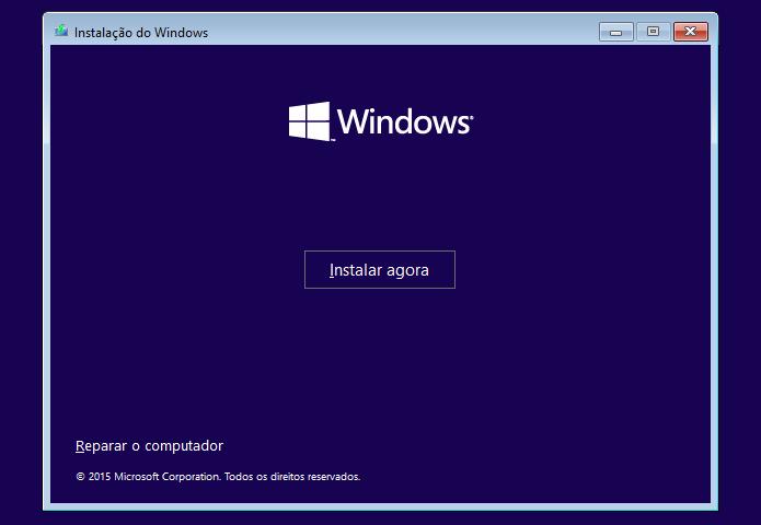 """Selecionando a opção """"Reparar o computador"""" (Foto: Reprodução/Edivaldo Brito)"""