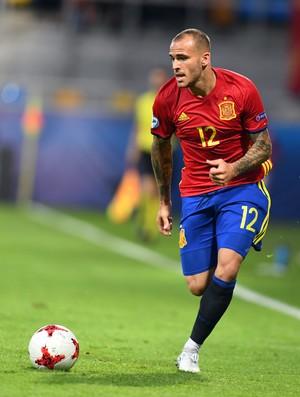 Sandro Ramírez Espanha sub-21 (Foto: AFP)