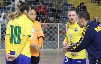 Brasil disputa final do Sul-Americano Feminino Sub-20 de futsal nesta sexta