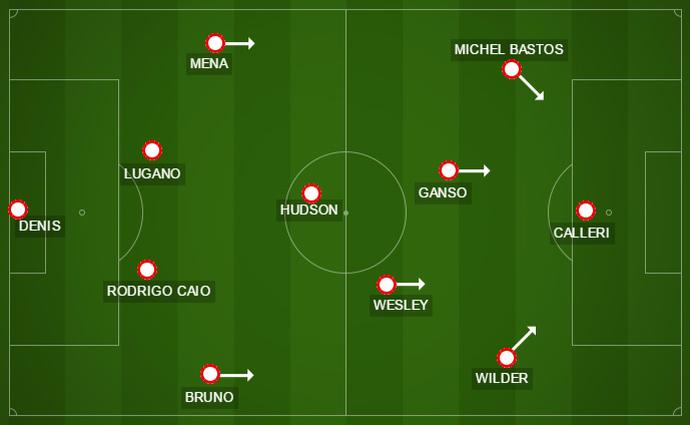 Em busca da vitória, São Paulo adotou postura mais ofensiva, mas ainda assim não dominou o Galo (Foto: GloboEsporte.com)