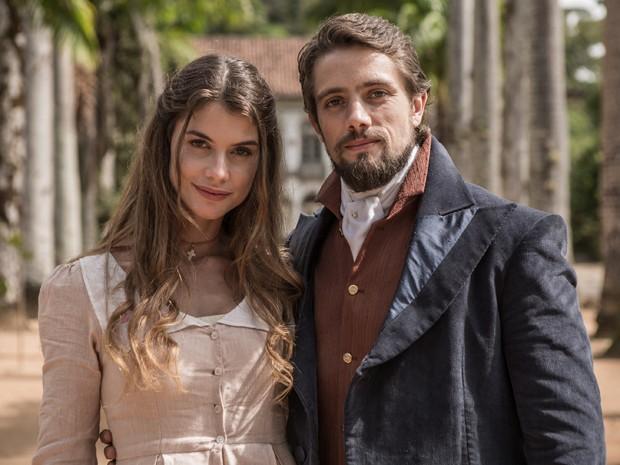 Rafael Cardoso será Felipe, um conde apaixonado por Lívia (Alinne Moraes) (Foto: Fábio Rocha/Gshow)
