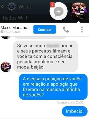Max e Mariano após tirar clipe sobre vingança pornô do ar, se defende em Goiânia, Goiás: 'Não é crime' 2 (Foto: Reprodução)
