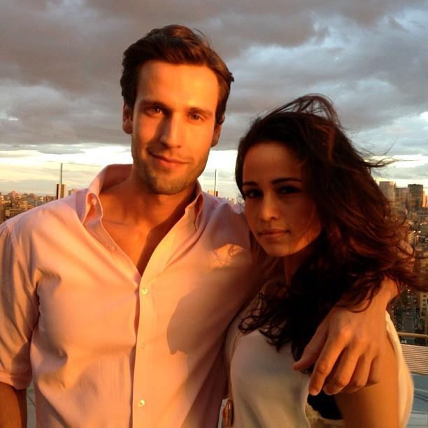 Pedro Andrade e Nanda Costa em Nova York, nos Estados Unidos (Foto: Instagram/ Reprodução)