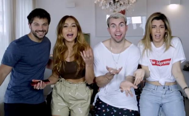 Duda Nagle, Sabrina Sato, Carlos Santana e Camila Coutinho (Foto: Reprodução)