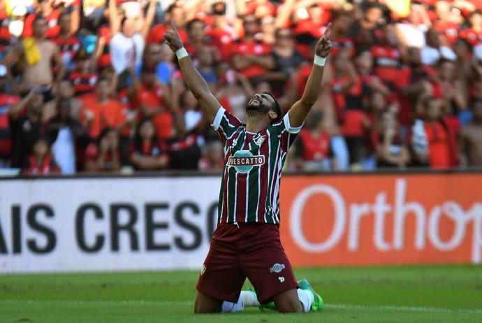 Henrique Dourado Fluminense x Flamengo (Foto: Alexandre Durão)