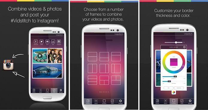 Vidstitch oferece colagens com fotos e vídeos para o Instagram e Vine (Foto: Divulgação/Play Store)