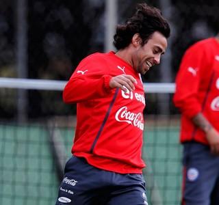 Valdívia Chile treino (Foto: Agência Reuters)