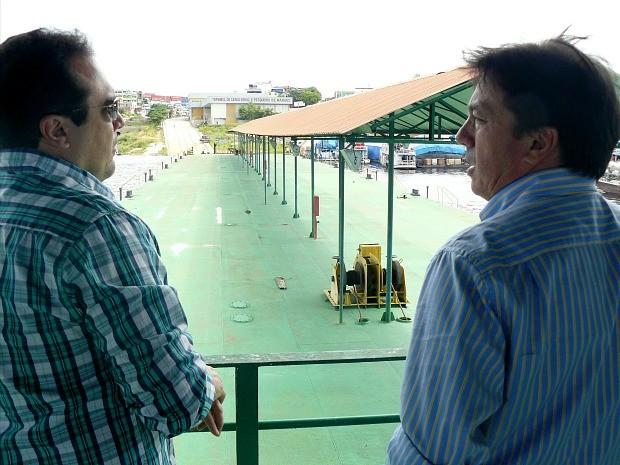 Superintendente do Dnit visitou o Terminal Pesqueiro de Manaus (Foto: Divulgação/Sempab)