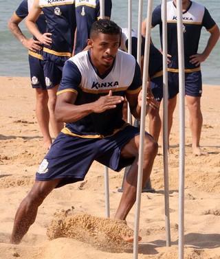 Fabrício Baiano, treino Macaé (Foto: Tiago Ferreira)