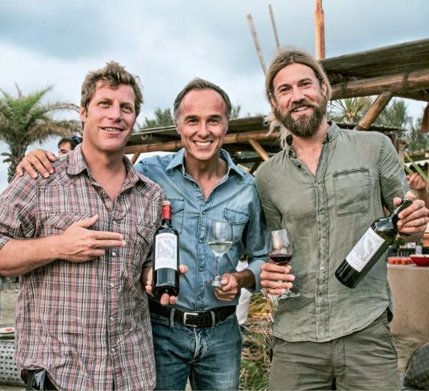 Jason Baffa, Piergiorgio Castellani e Chris Del Moro (Foto: Divulgação)
