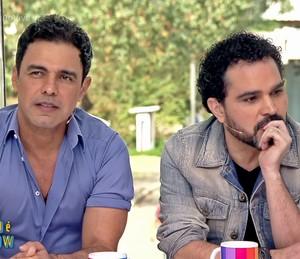 Zezé Di Camargo e Luciano participam do 'Vídeo Show' (Foto: TV Globo)