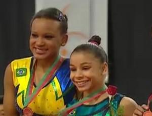 Flavia é ouro e  Rebeca prata na Copa do Mundo (Foto: Reprodução)