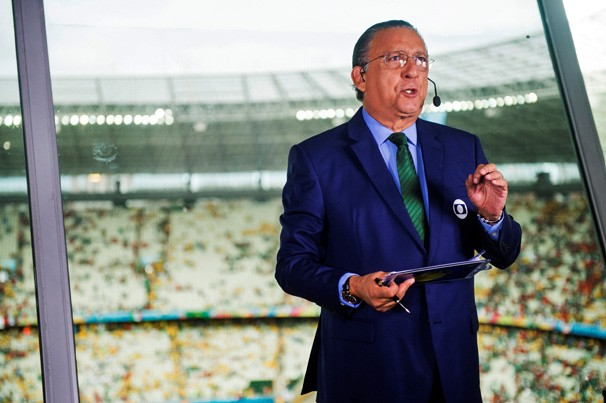 Galvão Bueno narra os dois últimos jogos da Copa do Mundo no sábado, em Brasília, e no domingo, no Rio (Foto: Globo)