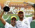 Poliana e Samuel de Bona levam título de 'Rei e Rainha do Mar' para o Brasil