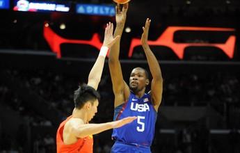 Estados Unidos batem a China em amistoso por 49 pontos de vantagem