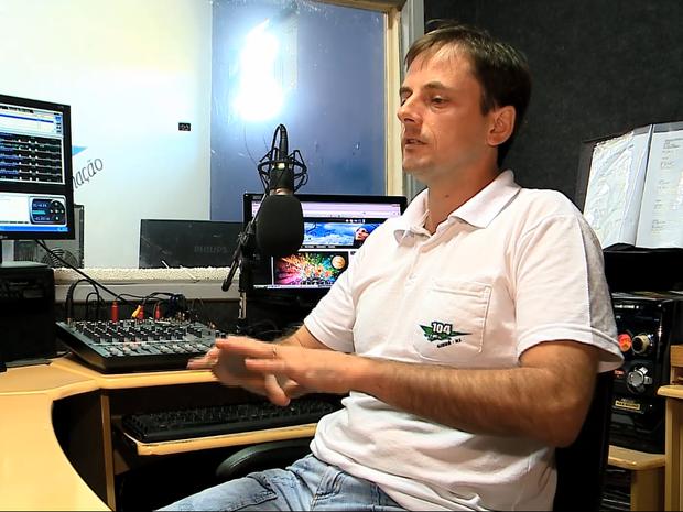 Radialista fala sobre ameaças (Foto: Reprodução/RBS TV)