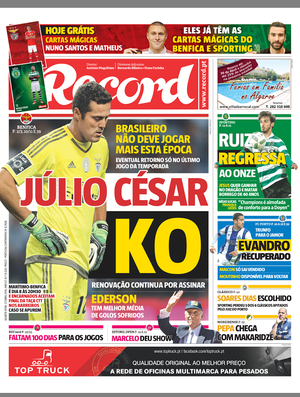 Capa Record Julio César Benfica (Foto: Reprodução)