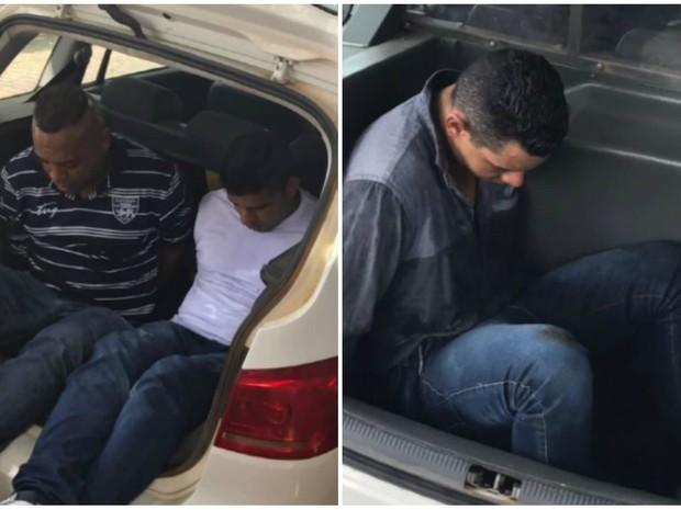 Suspeitos de roubar loja são presos em Divinolândia (Foto: Reprodução/ EPTV)