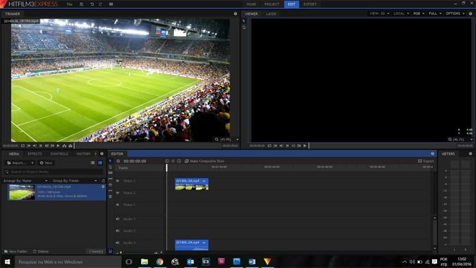 HitFilm Express oferece um arsenal de recursos para quem precisa editar (Foto: Reprodução/Filipe Garrett)