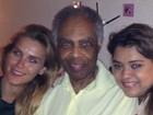 Dieckmann, Gilberto Gil e Preta Gil mandam parabéns para Thiaguinho