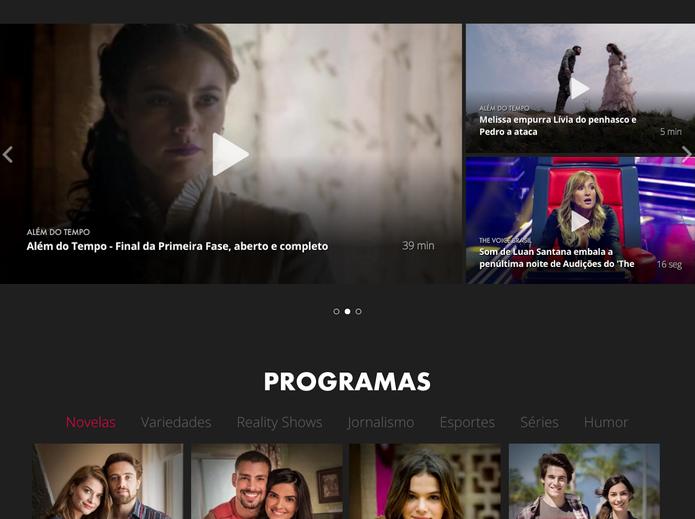 Saiba como usar o Globo Play para assistir programas da Globo de graça pelo computador (Foto: Reprodução/Globo Play)