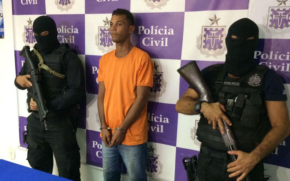 Preso por morte de engenheiro era amigo da vítima e armou emboscada por R$ 1,5 mil, diz políca (Foto: Ramon Ferraz/TV Bahia)